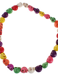 Crossbones Shape Colorful Turquoise Beads