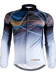 Nuckily Maillot de Ciclismo Hombre Manga Larga Bicicleta Camiseta/Maillot Tops Mantiene abrigado Cremallera delantera Listo para vestir