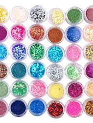 36pcs 3D Kleurrijke Nail Decoration Set