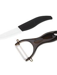 """3 """"Couteau d'office en céramique + éplucheur avec Coffret cadeau"""
