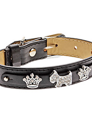 Adjustable Rhinestone Crown Dog Style Collar for Dogs (Neck: 15-25cm/5.9-9.8inch)