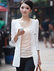 delgado chaqueta midi mujer elegante
