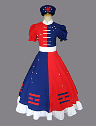 Inspired by TouHou Project Eirin Yagokoro Video Game Cosplay Costumes Cosplay Suits / Dresses Color Block Red Short SleeveDress / Hat /