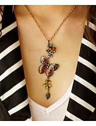 старинные бабочку женщины ожерелье