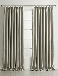Classic Polyester Solid Blackout Curtains Two Panels
