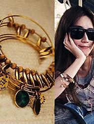 femmes bracelet vintage bijou feuille stratifiée