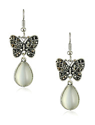 Women's Basic Opal Butterfly Earrings