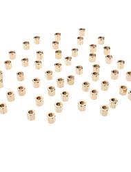 Bidirectionnelles M3 x 5mm à six pans creux piliers de cuivre (50 PCS, Golden)