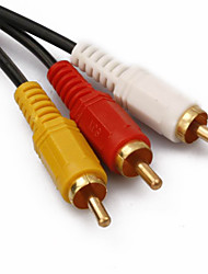 3-3 Interface Cable RCA chapados en oro (10 m)