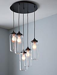 60W E27 Vidro Luz encastrar com 5 luzes