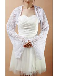 Wedding / Party/Evening Lace Coats/Jackets Long Sleeve Wedding  Wraps