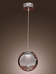 Max 60W Pendant Light ,  Modern/Contemporary / Globe Chrome Feature for Mini Style Metal Dining Room / Kitchen