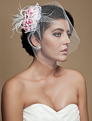 Wedding Veil One-tier Blusher Veils Birdcage Veils Cut Edge 11.81 in (30cm) Tulle