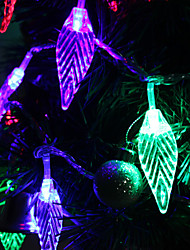 7M 30-светодиодный Leaf-Shaped Красочный светодиодные Газа Fairy лампы для фестиваля украшения (220)