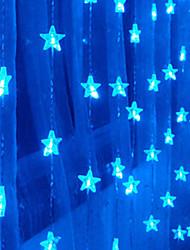 1.5Mx1.6M Azul Pentagrama LED String com 80 LEDs