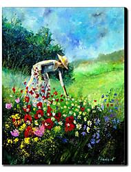 Pintado a mano de pintura de aceite personas 1211-PE0062