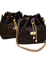 Chaîne femmes Tweed Vérifier Diamant fourre-tout (25 * 14 * 28cm)