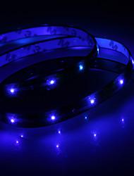Waterproof 30cm 12-led blauwe LED strip licht (12V)