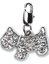 Dog tags Rhinestone Decorated Dog Style Collar Charms for Dogs Cats
