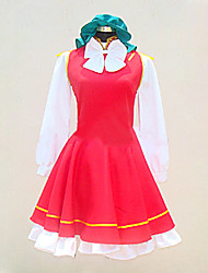 Inspiré par Touhou Project Chen Vidéo Jeu Costumes Cosplay Costumes Cosplay / Robes Mosaïque Rouge Manche LonguesChemisier / Robe /