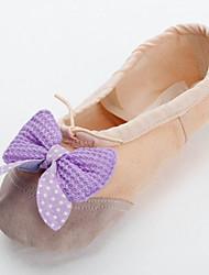 красивой ручной работы Холст обувь с бабочкой танца сплит-единственный балет тапочки для детей