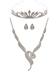 Jewelry Set Women's Anniversary / Engagement / Birthday / Gift / Party Jewelry Sets Alloy / Rhinestone Earrings / Tiaras / Necklaces