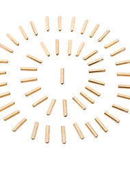 M3 x 20mm Cylindre en laiton hexagonale (50 PCS, Golden)