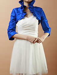 Wedding  Wraps Coats/Jackets Half-Sleeve Taffeta Royal Blue Wedding / Party/Evening Ruffles Open Front