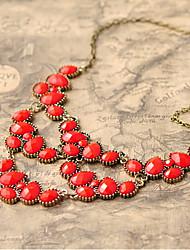 Women's Teardrop Gem Vintage Bib Necklace