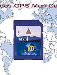 KUDOS América do Norte Mapa (cartão SD-4G)