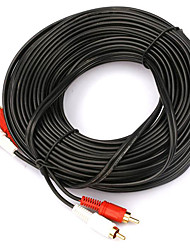 2 to 2 Interface Gold Plated RCA Cable (15 m)