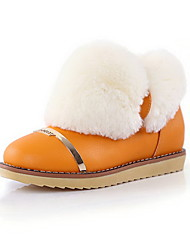 Leatherette Flat Heel Ankle Boots With Fur Party / Evening Shoes (More Colors)