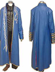 Inspiré par Devil May Cry Vergil Vidéo Jeu Costumes de cosplay Costumes Cosplay Mosaïque Bleu Manche Longues Manteau / Veste / Pantalons