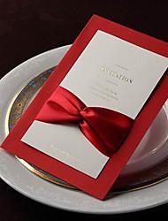 invitation de mariage de cru avec le ruban échantillon - un ensemble (plus de couleurs)