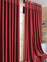 (Um par) clsaaic floral cortina blecaute em relevo