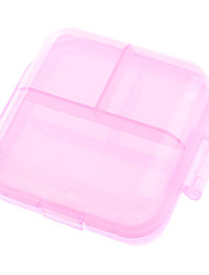 Portable 6-Lattice Pill Box (Random Color)