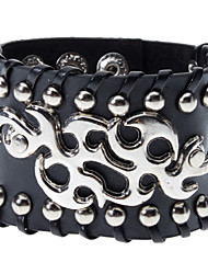 Nuages ​​brillant Bracelet en cuir Rivet