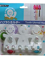 Une famille Accrochez Brosses à dents