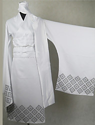 Inspired by Nurarihyon's Grandson Tsurara Oikawa Anime Cosplay Costumes Cosplay Suits / Kimono Print White Long SleeveKimono Coat / Scarf