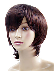 Capless Short Brown Wavy High Quality Synthetic Japanese Kanekalon Wigs