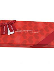 Red Heart Design Gift Box With Ribbon Bow