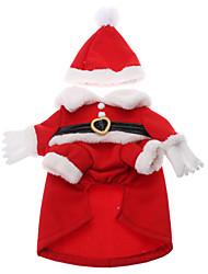 Hunde / Katzen - Winter - Baumwolle - Weihnachten / Neujahr - Rot - Mäntel - XS / XL / L