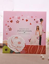 personalisierte romanze rosa Hochzeitseinladung (Satz 50)