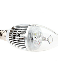 E14 3W 240-270LM 6000-6500K Natural White Light LED Candle Bulb (85-265V)