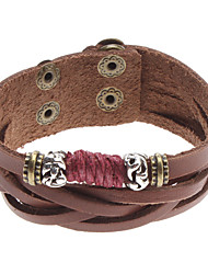 Z&X®  Nations Style Rivet Leather Bracelet