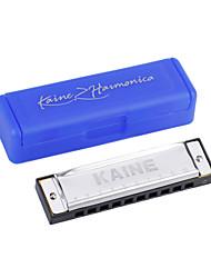 Kaine - (K1001) Blues Harp Harmonica C key/10 Holes/20 Tones
