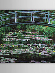 Hand-painted Oil Painting Bridge by Claude Monet with Stretched Frame