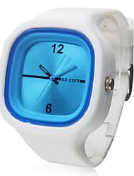 Jelly Silicone Band Quartz Wrist Watch(White)