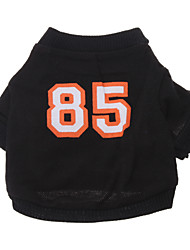 Dog Shirt / T-Shirt / Jersey Black Dog Clothes Spring/Fall Letter & Number