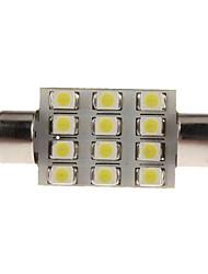 Guirlande Automatique Blanc 1W SMD 3528 6000-6500 Lampe de lecture Eclairage plaque d'immatriculation
